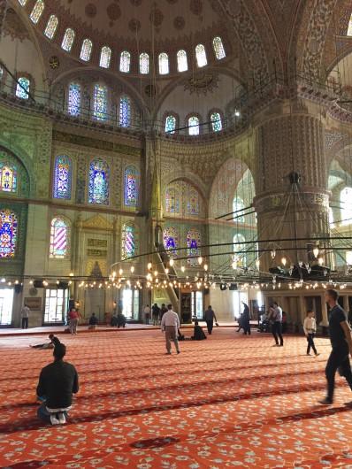 Salón principal de la Mezquita Azul